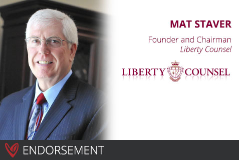 Dr. Mathew Staver's Endorsement