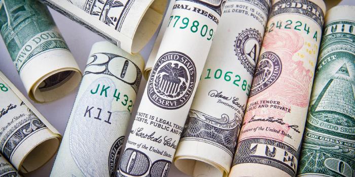 Rolls of U.S. dollar bills