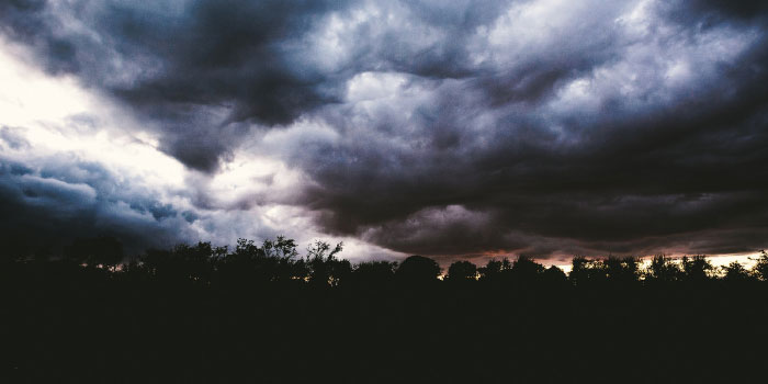 Dark and ominous storm clouds