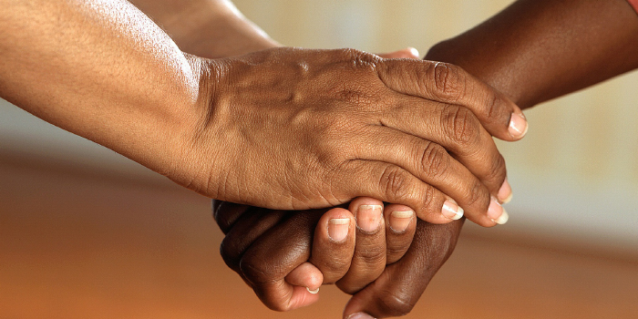 Holding another person's hand