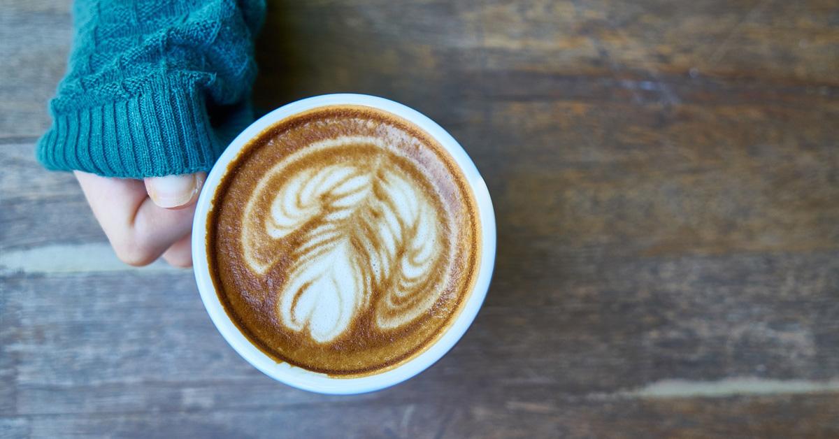 Grabbing a latte